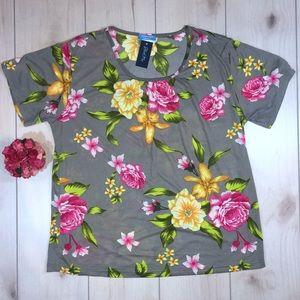 Women's Plus Size 1X Floral Top ~ NWT